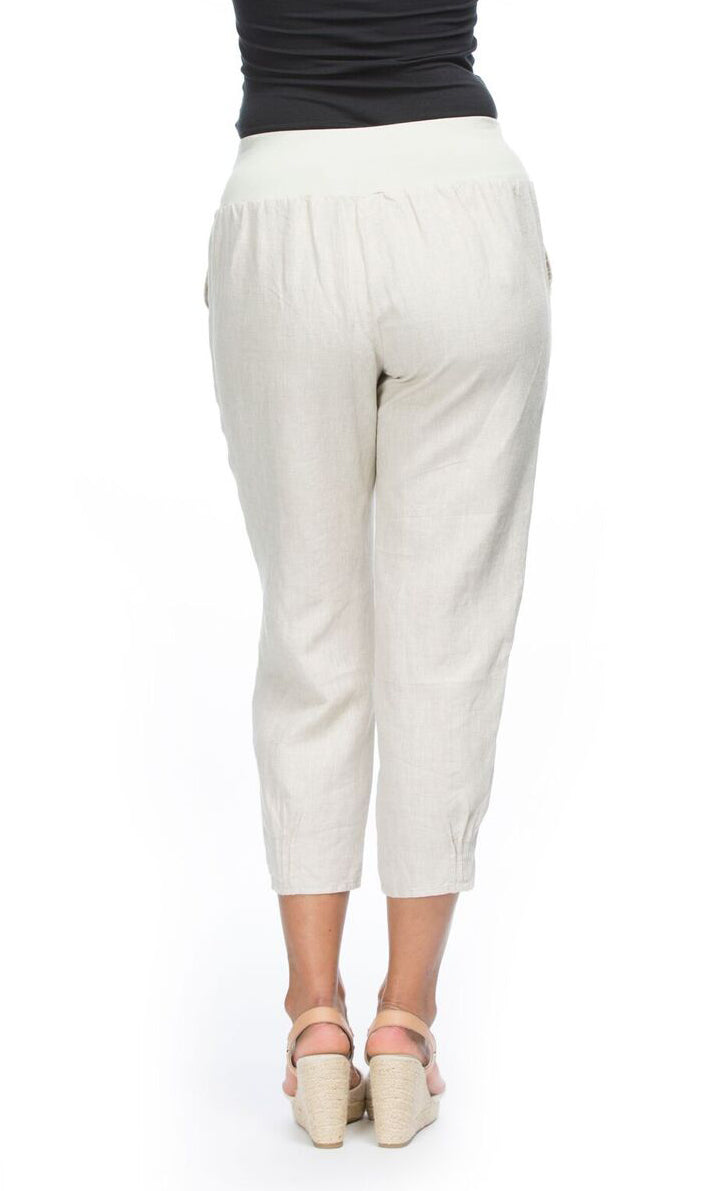 Linen Pant Jersey Waist, More colours
