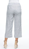 Linen Pant Pull On Yarn Dyed