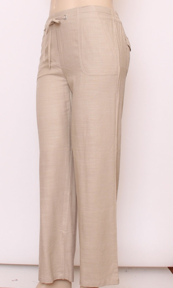 Bamboo Pant Ladies Beach Stone