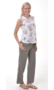 Bamboo Pant Ladies Beach Khaki
