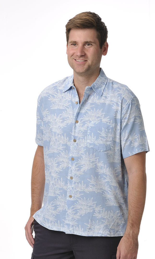 Bamboo Men's Shirt Bamboo Leaf