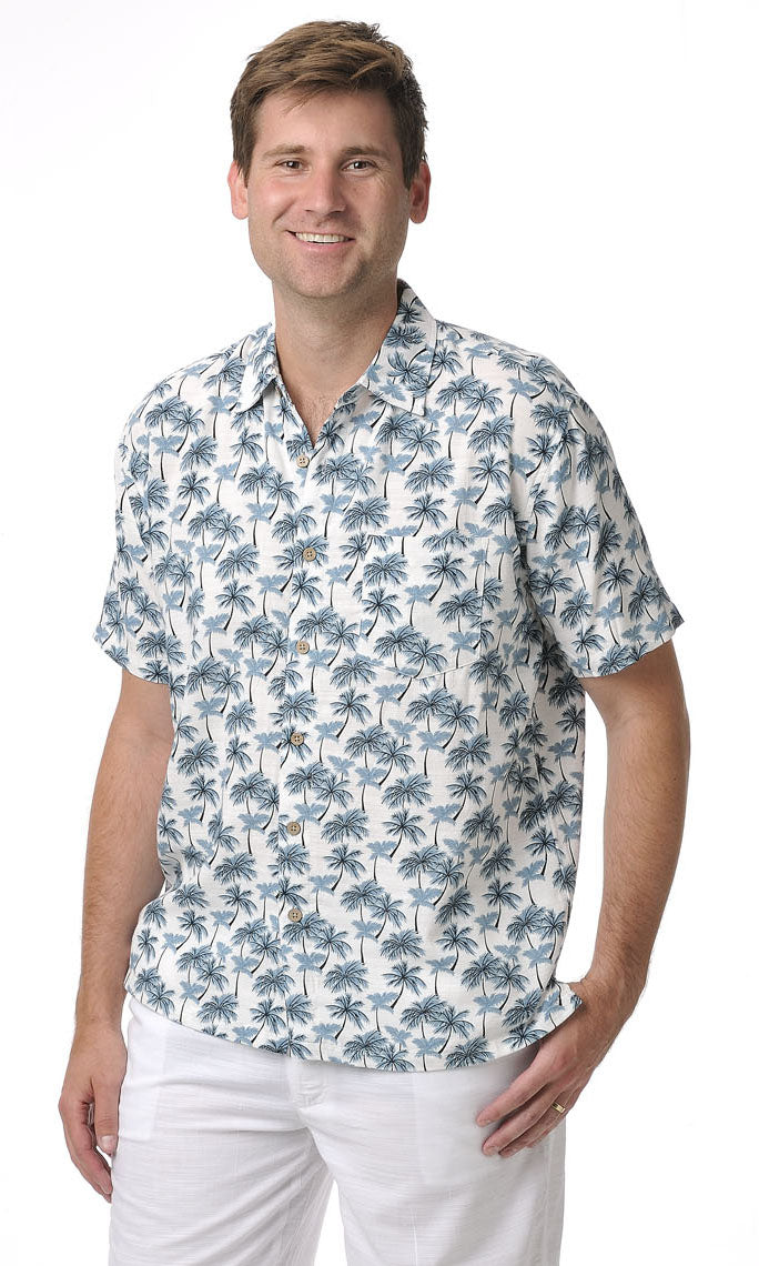 Bamboo Men's Shirt Paradise Palms