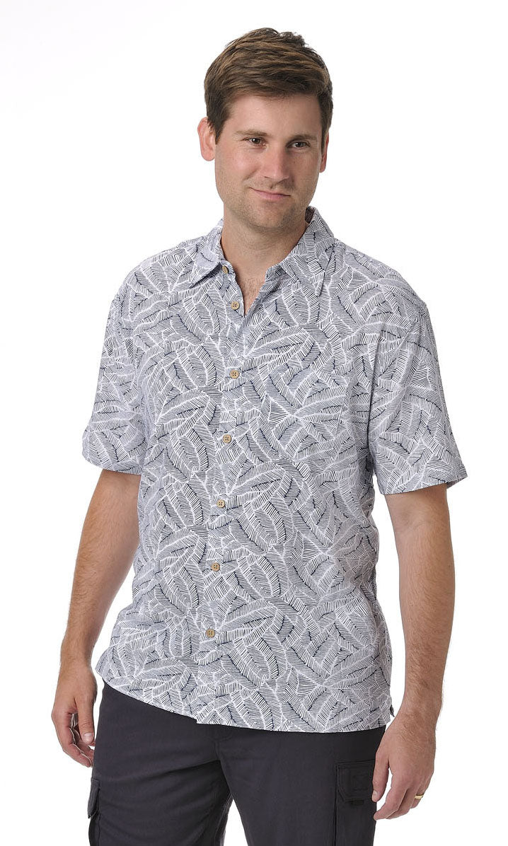 Bamboo Men's Shirt Blue Illusion