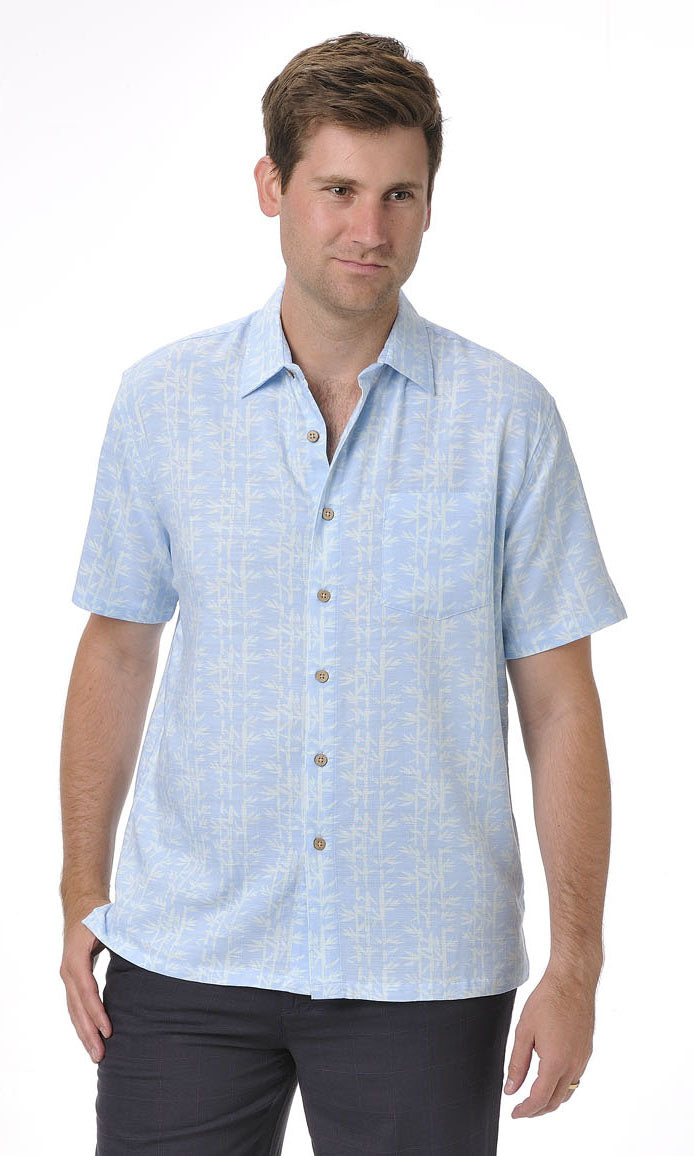 Bamboo Men's Shirt Sky Blue