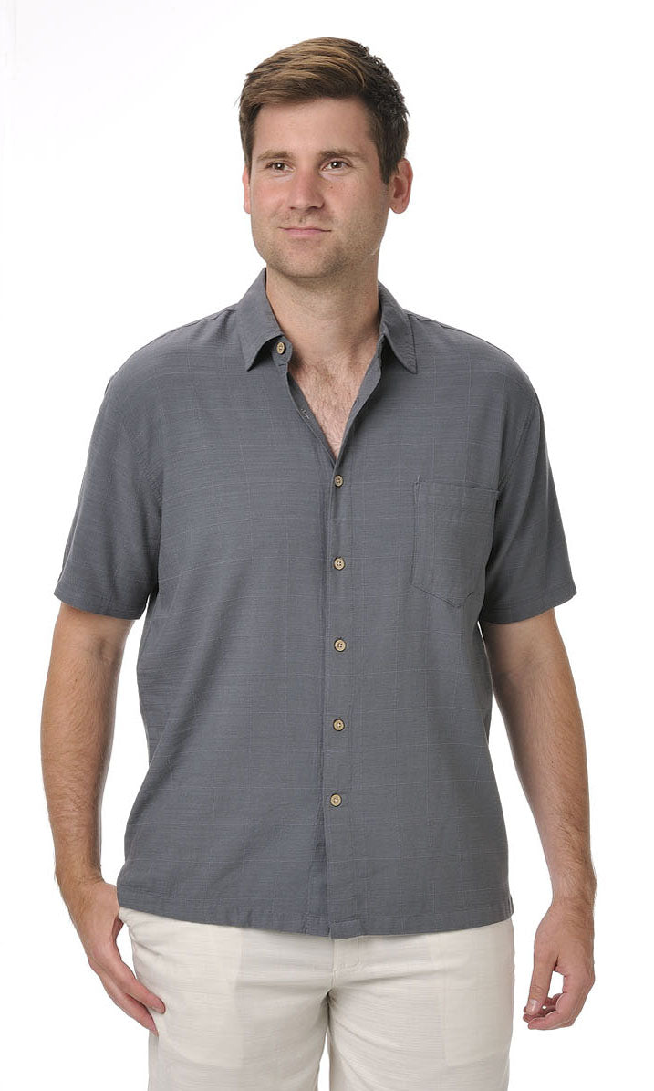 Bamboo Men's Shirt Steel
