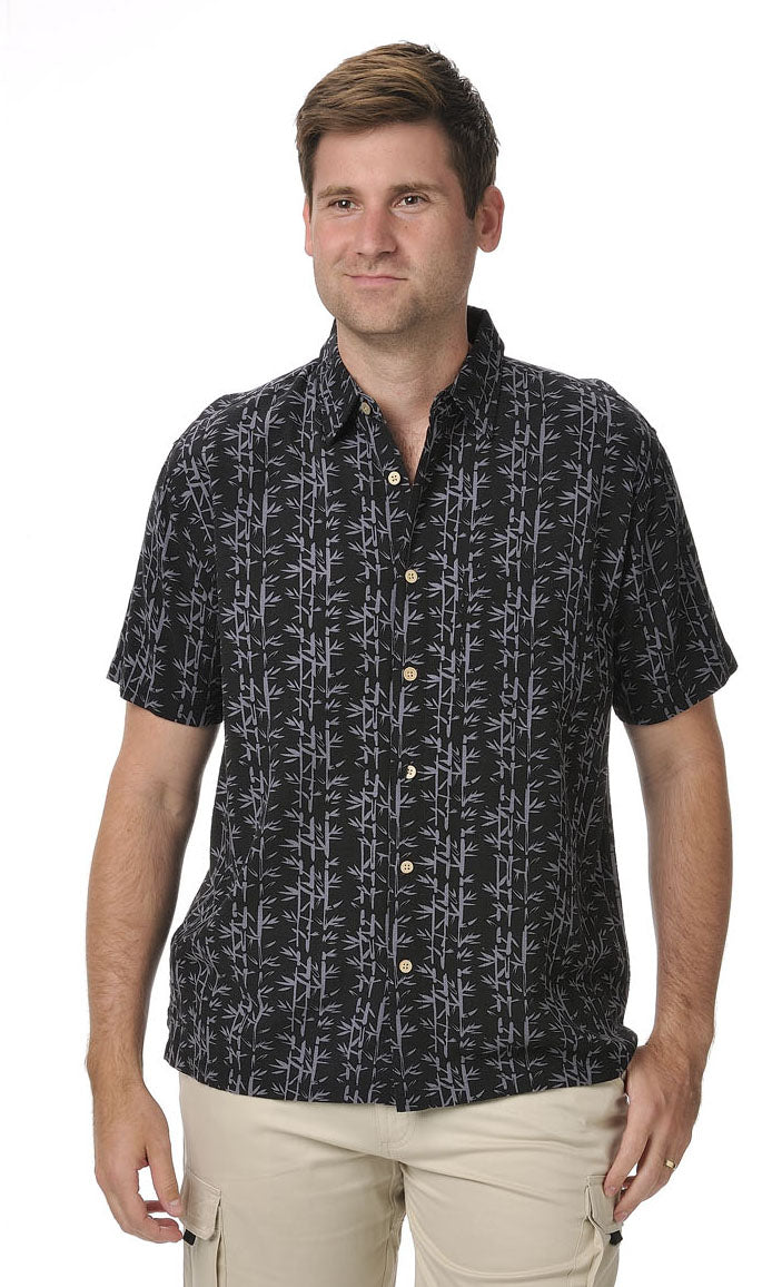 Bamboo Men's Shirt Black Bamboo