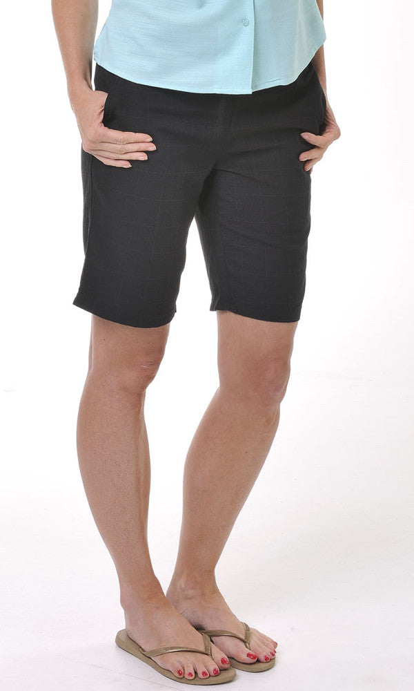 Bamboo Ladies Short Beach, Black, Size 8-22