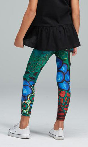 Aboriginal Art Kids Leggings Lore
