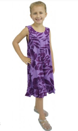 Girls Dress Tahiti, More Prints, Sizes 2 - 14