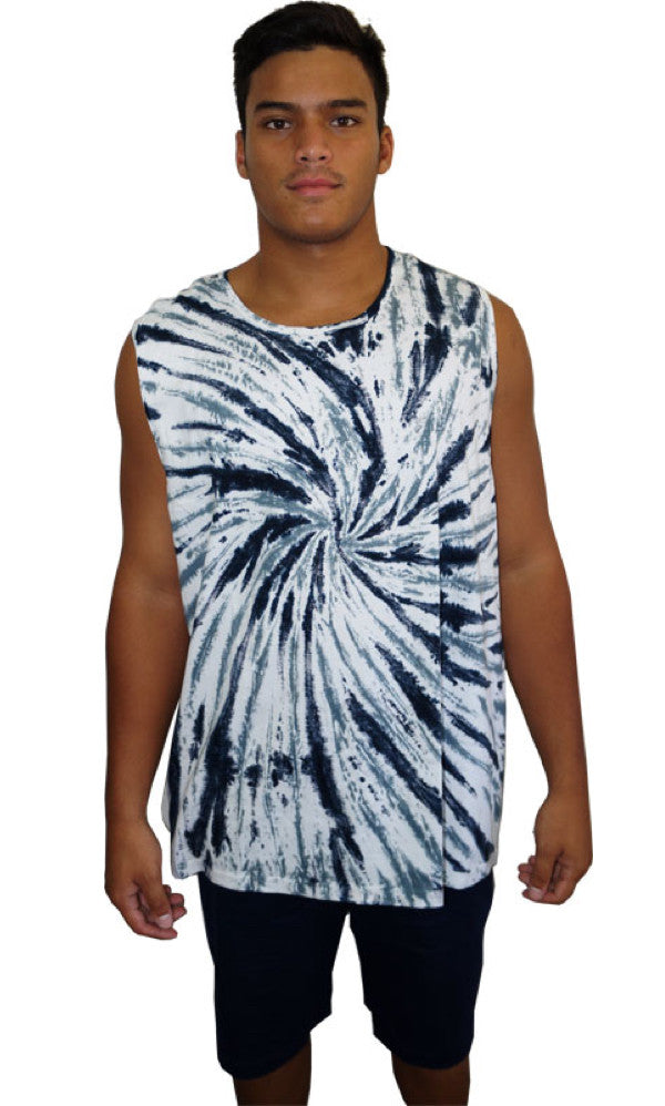 Tie Dye Muscle Shirt, More Colours, Sizes XXS - XXL
