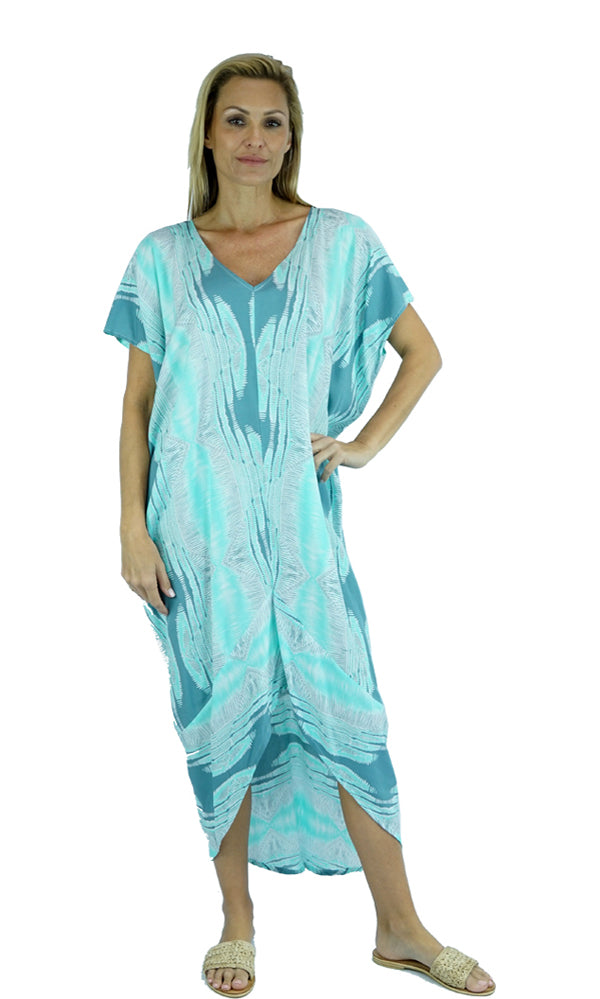 Rayon Kaftan Long Frilled Toga Goodvibes, More Colours