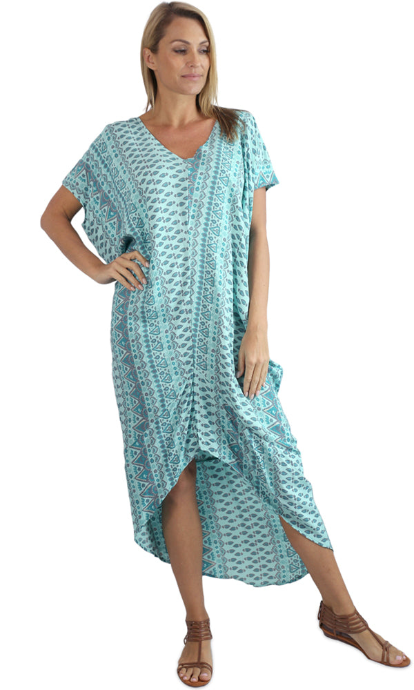 Rayon Kaftan Long Frilled Toga Tuscany, More Colours