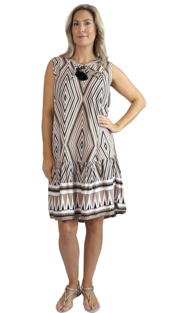 Rayon Dress Holiday, More Prints, Sizes 10 - 20