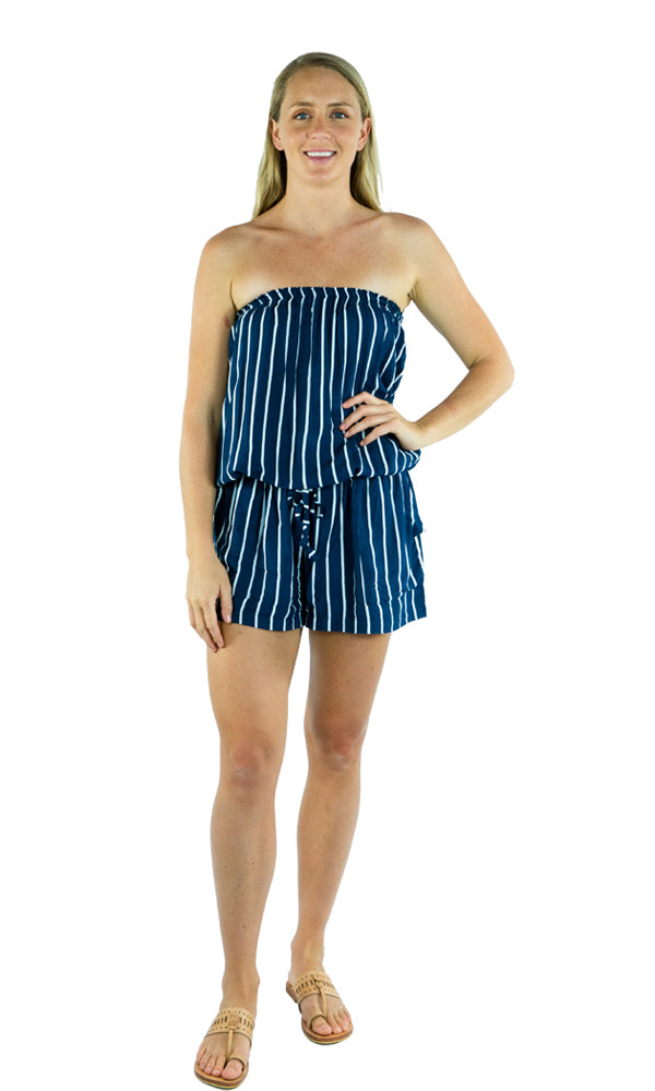 Rayon Jumpsuit Short New Stripe, More Colours