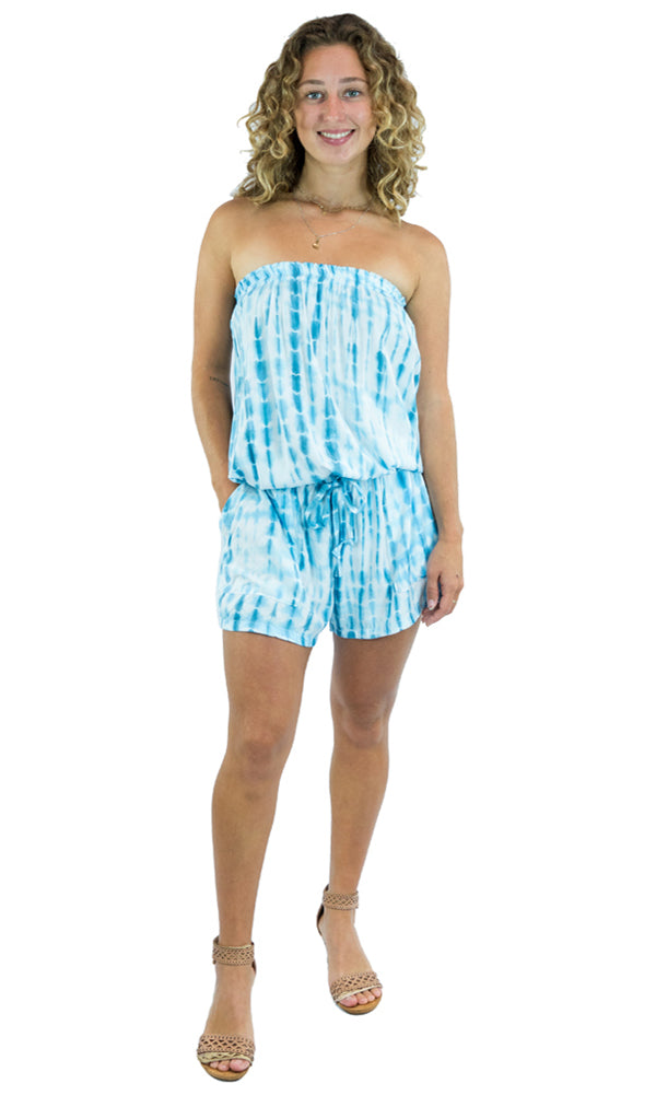 Rayon Jumpsuit Short Waterglass, More Colours