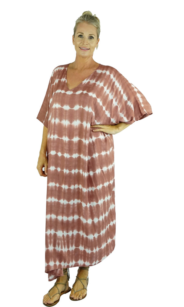Rayon Kaftan Long Shibori, More Colours