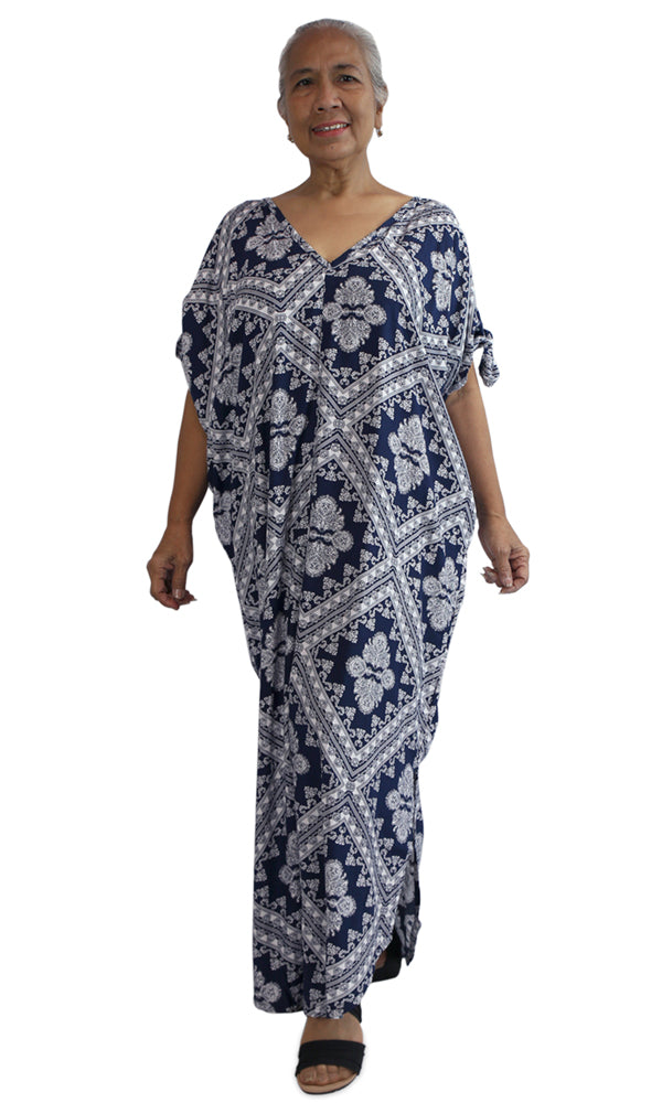 Rayon Kaftan Long Mykonos Crossover, More Colours