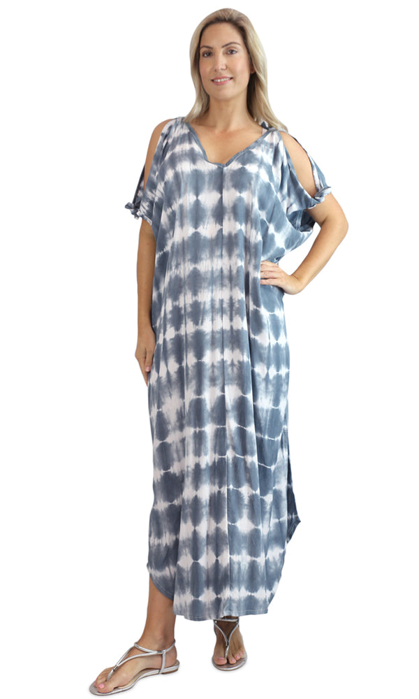Rayon Kaftan Long Mykonos Sibori, More Colours