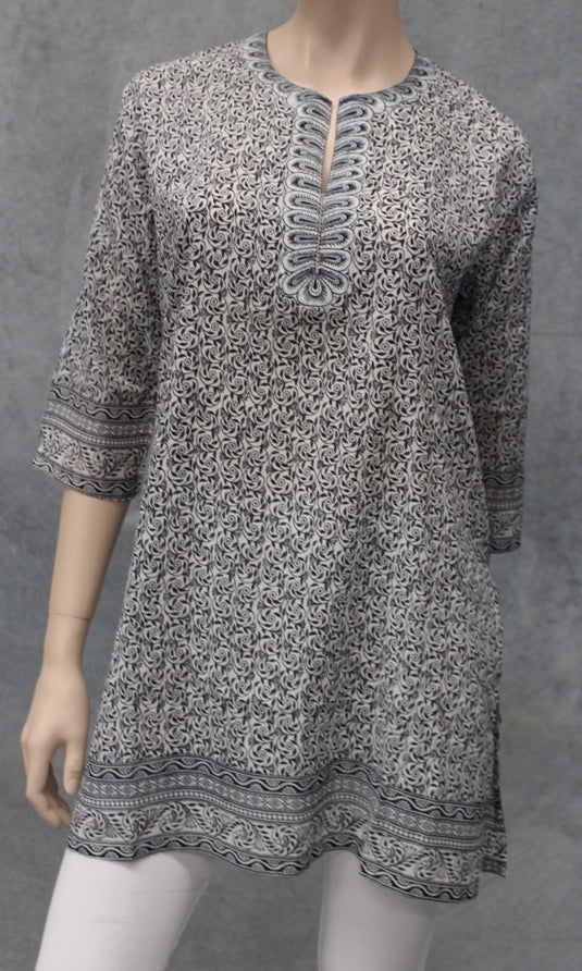 Cotton Kurta Petal Print