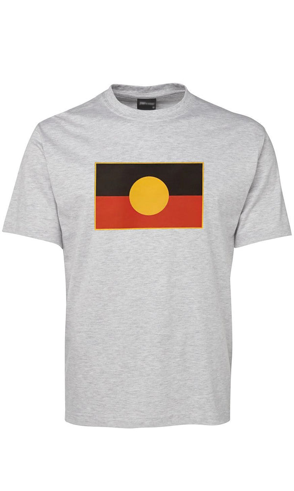 Aboriginal Flag Unisex T-Shirt Grey Marle
