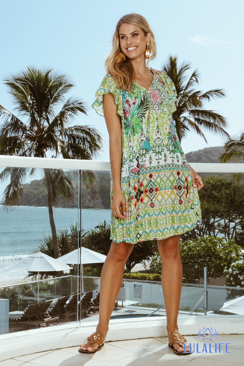Rayon Swing Dress Troppo