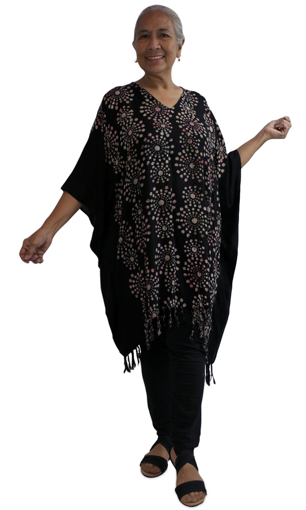 Rayon Cover Up V Neck Bubbles, More Colours