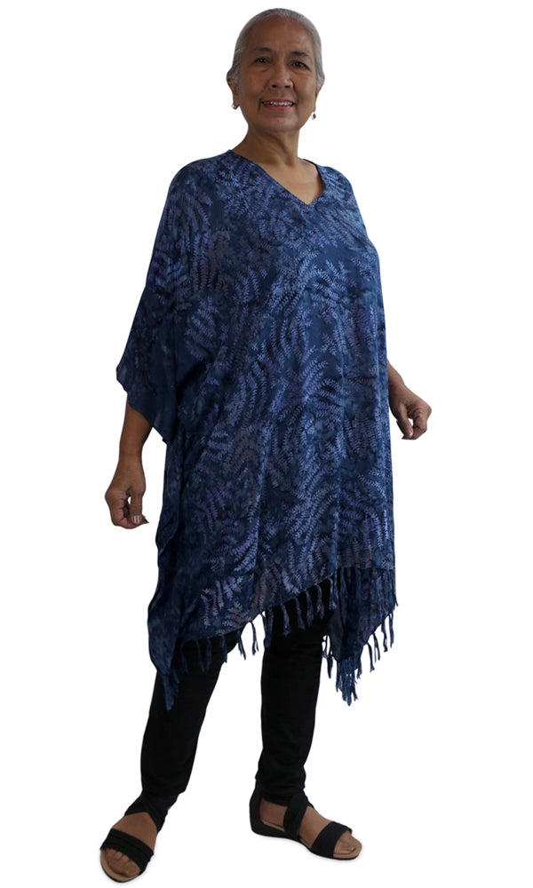 Rayon Cover Up V Neck Fossils, More Colours, Size 10-26