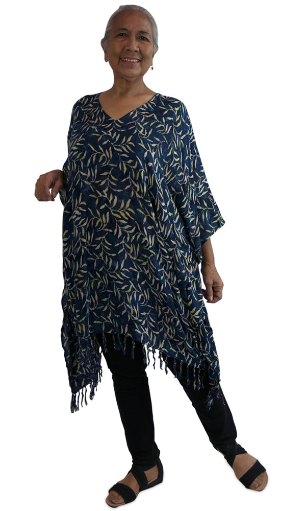 Rayon Cover Up V Neck Tree Fern, Colours, Size 10-26