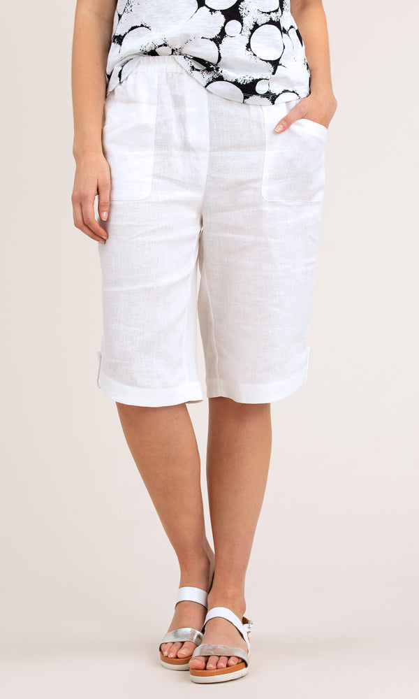 Yarra Trail Linen Short Curved Hem