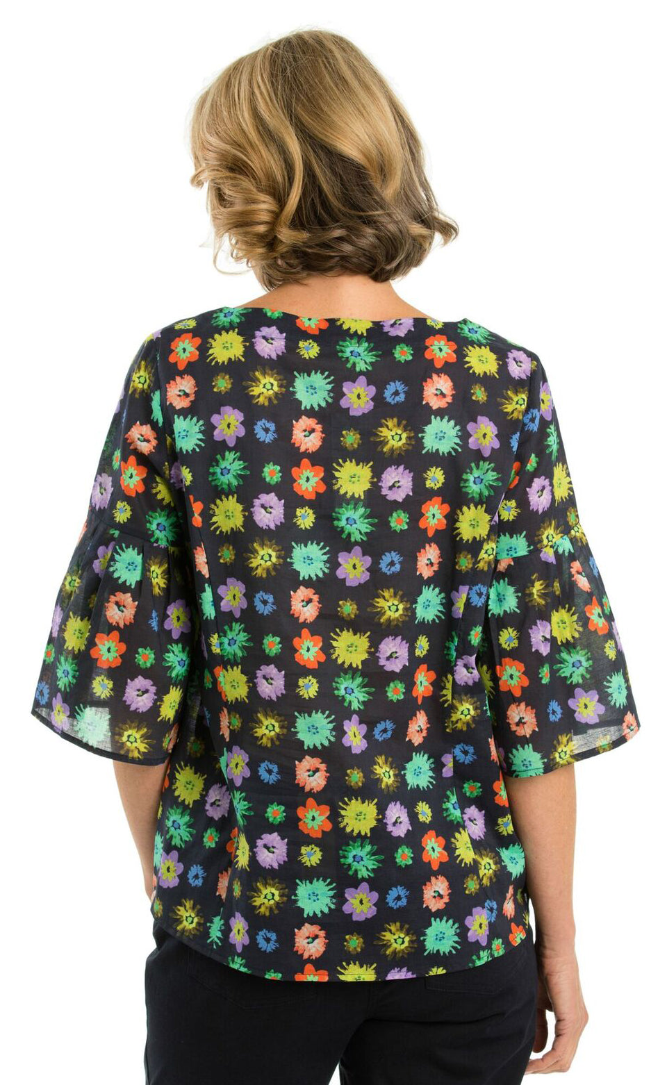 Cotton Blouse Flower Print, Sizes 10 - 18