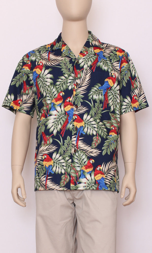 Hawaiian Shirt Genuine Parrots Blue