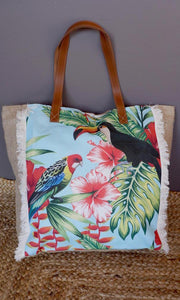 Hessian/Cotton Tote Bag, More Prints