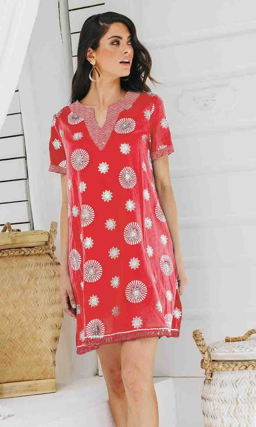 Cotton Dress Lydia Melon