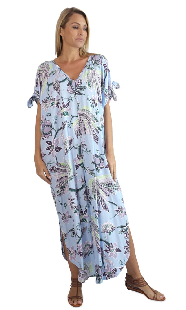 Rayon Kaftan Long Mykonos Lyrebird, More Colours