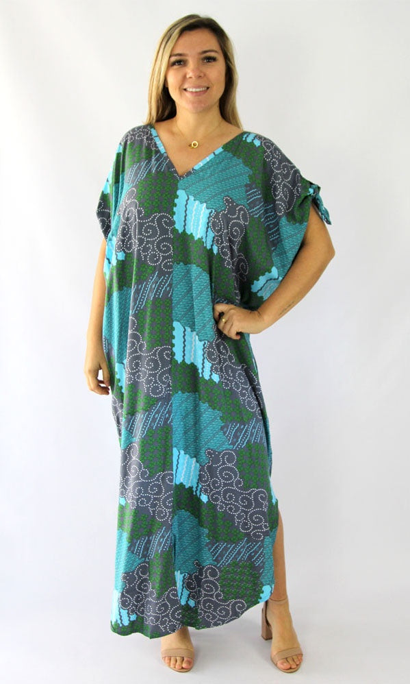 Rayon Kaftan Long Mykonos Mosiac, More Colours