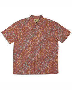 Bamboo Men's Shirt Aboriginal Art Puyurru Dreaming