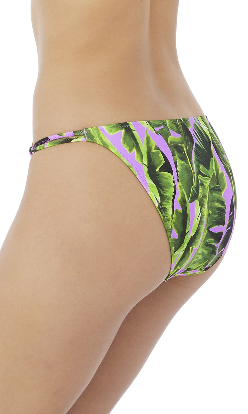Jungle Oasis Cassis Tanga Bikini Brief, Pre-Order XS - XL