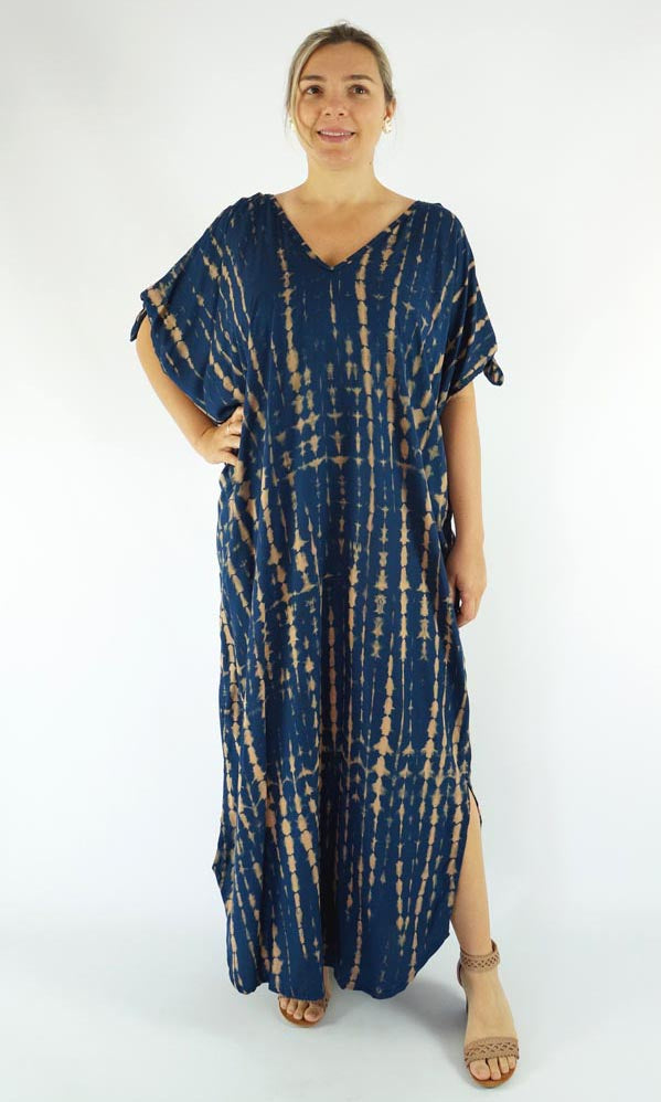 Rayon Kaftan Long Mykonos Soba, More Colours