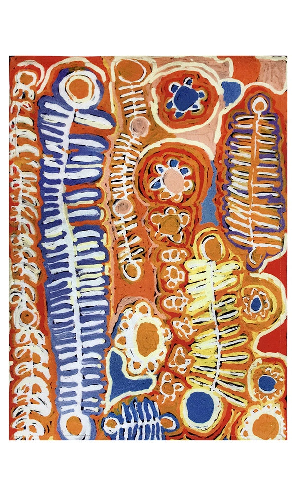 Aboriginal Art Cotton Tea Towel by Murdie Nampijinpa Morris (2)