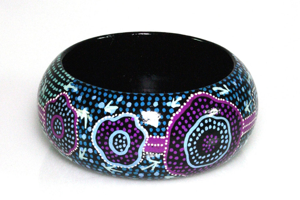Aboriginal Art Bangle by Pauline Nampijinpa Singleton