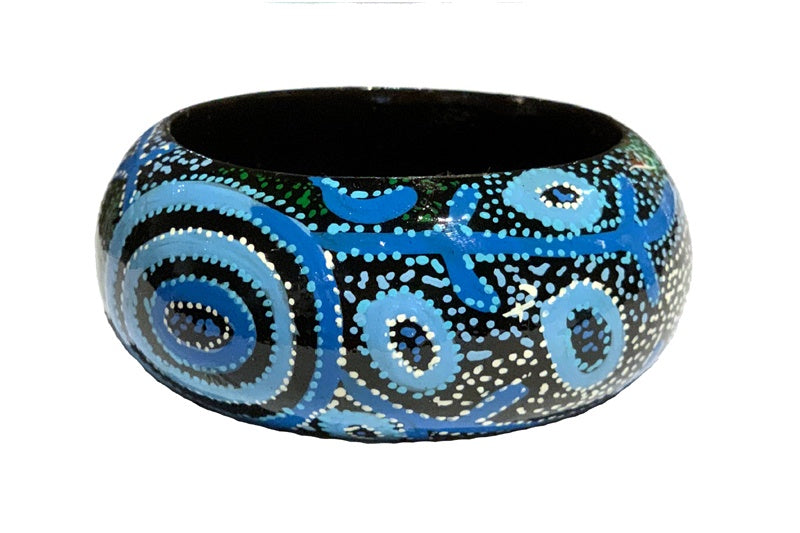 Aboriginal Art Bangle by Theo Hudson (2)