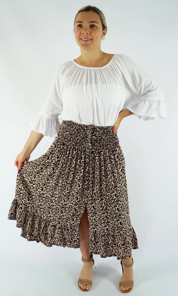 Rayon Skirt Tangelo Tanzania, More Colours