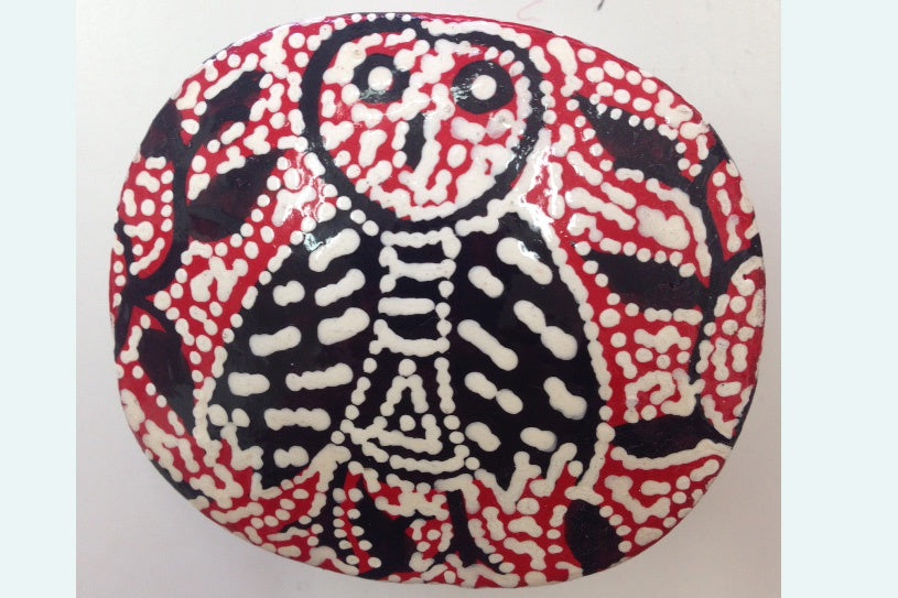 Aboriginal Art Lacquer Ring Box by Julliette N Brown