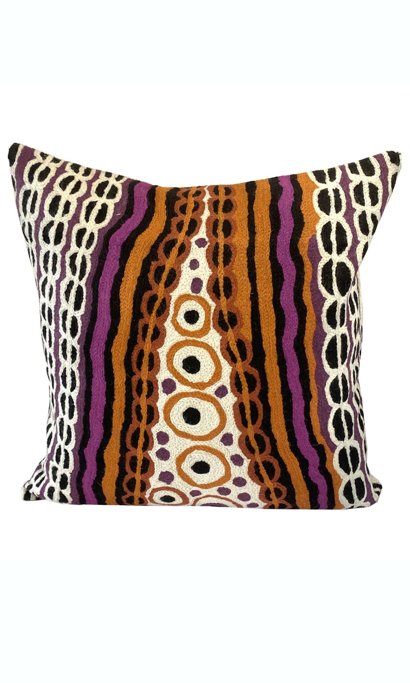 Aboriginal Art Cushion Cover by Angilyiya Mitchell