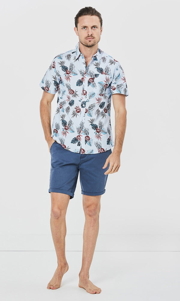 Cotton Poplin Short Sleeve Shirt Destination