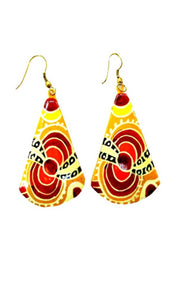 Aboriginal Art Earrings by Julie Yatjitja