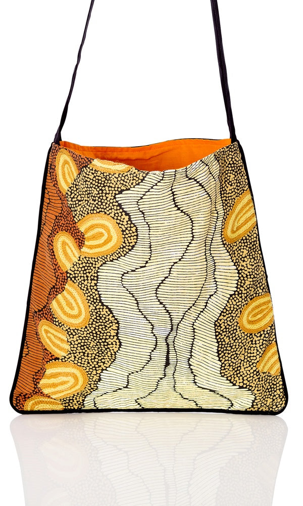 Aboriginal Art Canvas Tote Bag Medium by Damien & Yilpi Marks