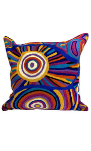 Aboriginal Art Cushion Cover by Tina Napangardi Martin