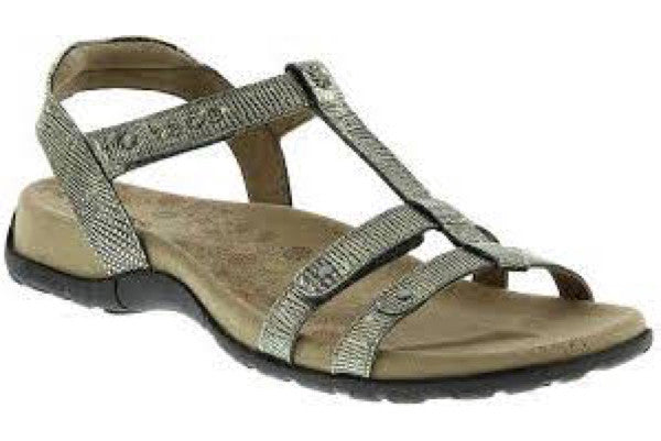 Arch Support Sandal Trophy Light Gold Reptile, Sizes 6 - 11