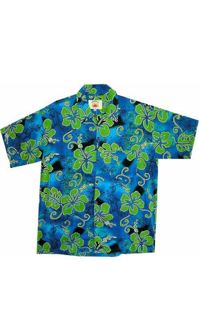 Kids Rayon Hawaiian Shirt Hibiscus, More Colours, Ages 2-16
